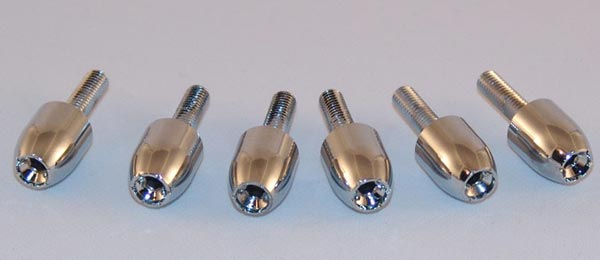 Motorcycle Fairing and Windscreen Hollow Tip Bullet Bolts